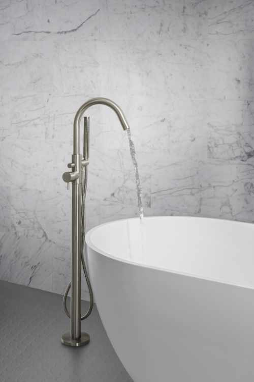 Crosswater - MPRO floor standing brushed stainless steel bath shower mixer