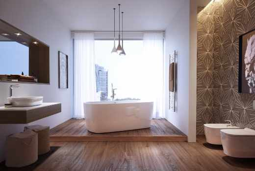 Bespoke bathrooms at GeoJones Bristol Bathrooms - Pura Bathrooms Group contemporary free-standing bath