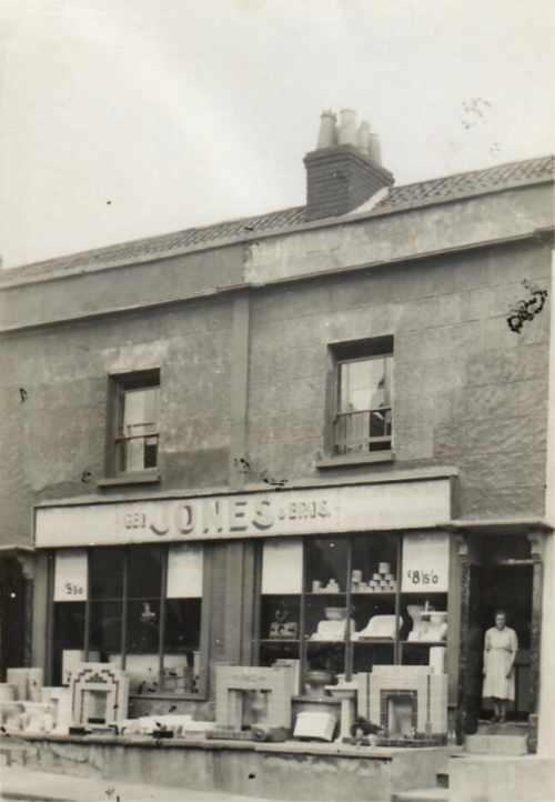 Original Shop Front - Grandma Jones in the doorway