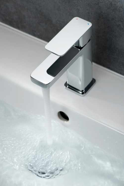 Taps at GeoJones Bristol - Vado modern square chrome basin mono tap