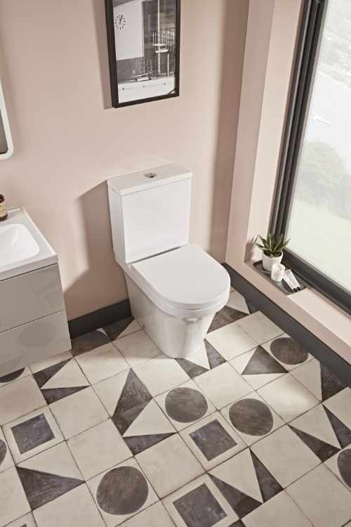 Toilets at GeoJones Bristol - Tavistock modern D shape close coupled WC