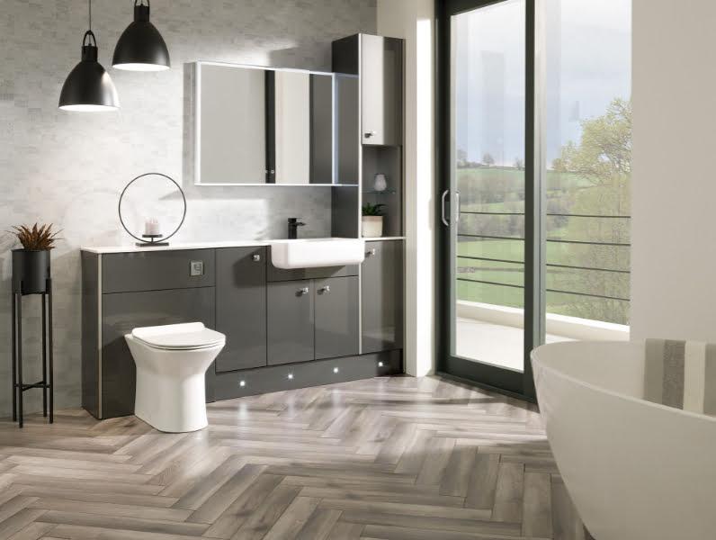 Calypso - fitted furniture Cheviot metallic slate