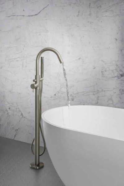 Crosswater - MPRO brushed stainless steel floor standing bath shower mixer