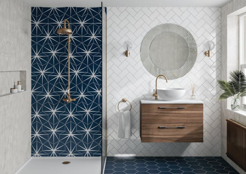 HiB - Arte circular bathroom mirror