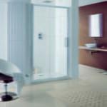 Lakes - Talsi sliding shower door in recess