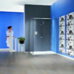 Matki - Radiance straight sliding door with side panel