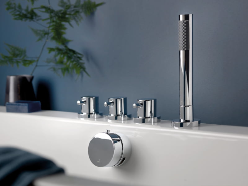 Vado - Zoo deck-mounted concealed bath and shower mixer with overflow filler