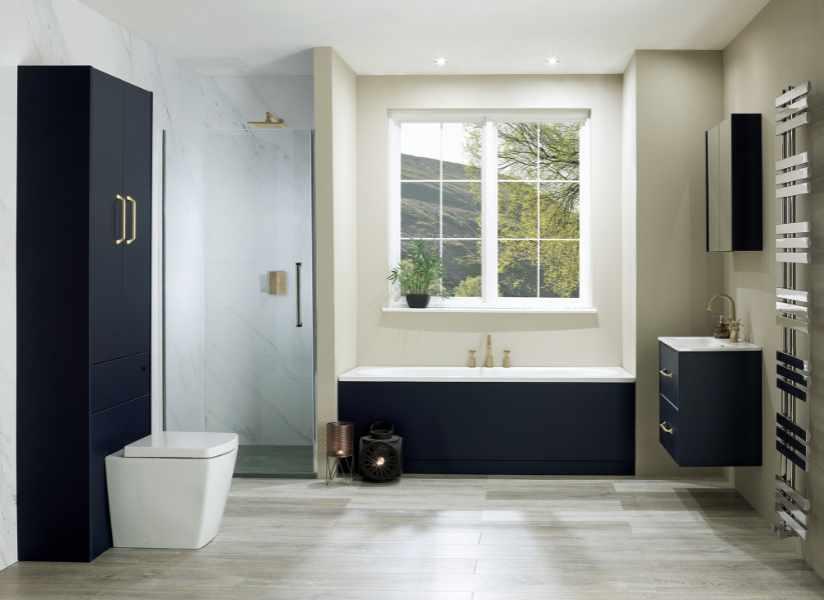 Calypso - Brecon Marine blue bath panel