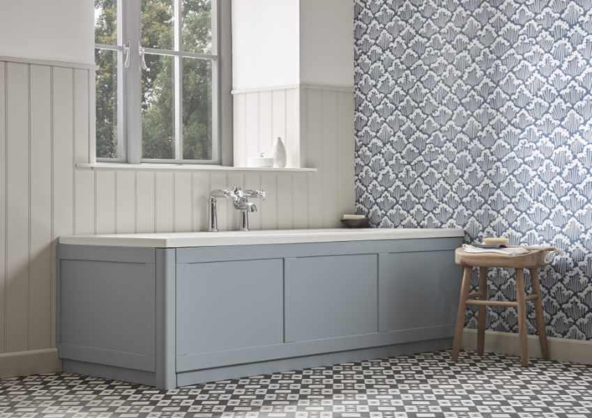 Tavistock - Lansdown Mineral Blue bath panel